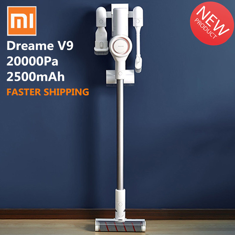 original xiaomi dreame v9 v9p vacuum cleaner handheld cordless stick vacuum cleaners 20000pa. Black Bedroom Furniture Sets. Home Design Ideas