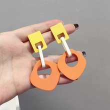 Big Geometric Drop Dangle Earrings For Women 2019 New Bohemian Orange Statement Trendy Jewelry Wholesale