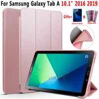 Für Samsung Galaxy Tab EINE A6 10,1 2016 2019 Fall Abdeckung T580 T585 T510 T515 SM-T580 SM-T510 Leder Fall Weichen zurück Silicon Funda