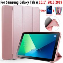 For Samsung Galaxy Tab A A6 10.1 2016 2019 Case Cover T580 T585 T510 T515 SM-T580 SM-T510 Leather Case Soft Back Silicon Funda цена и фото
