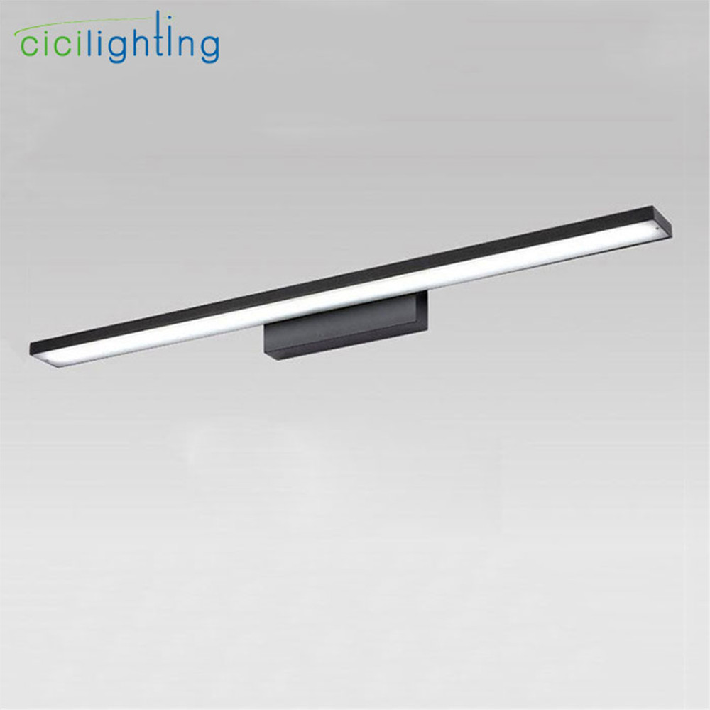 90V - 265V 24W 100cm led mirror lights lamp long big Vintage cabinet lights LED Dress mirror bedroom bathroom Modern home lamps 90v 265v 12w 37cm led mirror lights lamp modern white cabinet lights led dress mirror bedroom bathroom lighting fixture