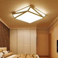 A1 Простые Модные Личность Творческая Геометрия потолочный светильник простые современные светодиодные квадратный гостиная ZA MZ24