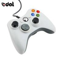 EDAL белый проводной джойстик портативный Геймпад контроллер для джойстика и microsoft PC для Windows