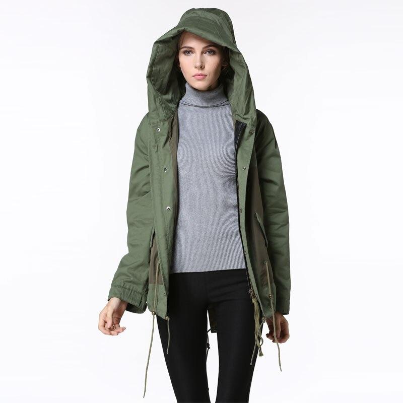 differently ca133 71b74 Coreano desgin moda comoda giacca bomber donna primavera cappotti senza  collo di pelliccia con cappuccio giacche