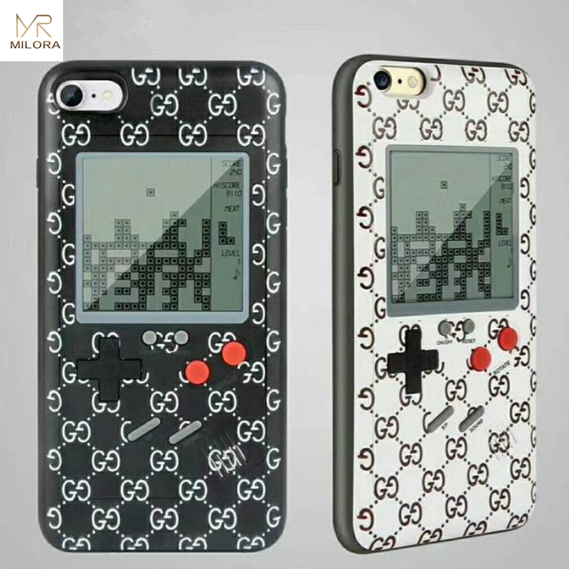MLR Wanle Gameboy Tetris Phone Cases For Iphone X Soft TPU Play Game Console Back Cover For iPhone 6 6S 7 8 Plus Fundas