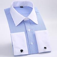 2016 Hot Brand Men S Striped Formal Men Wedding Dress Shirt Brand Long Sleeve Shirts Men