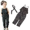 Девушки Комбинезон одежда дети Девушки жгут форме сердца кусок комплект одежды Спецодежда для детей лета малышей Комбинезон одежда F25
