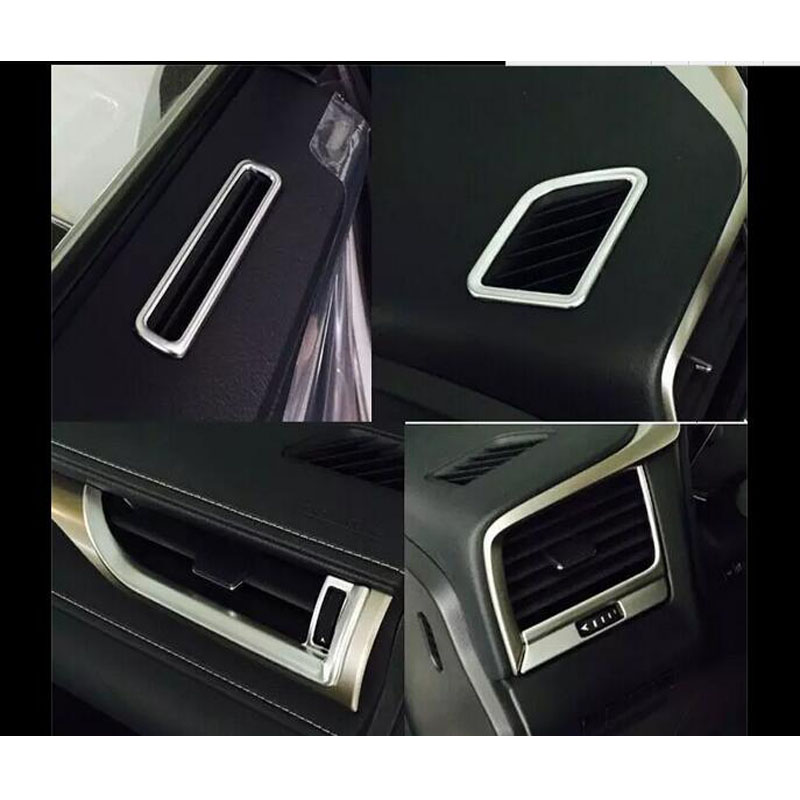 ФОТО ABS Silvery Interior Air-Conditioning Trims For Lexus RX200T 350 450H 2016+ Accessories