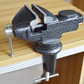 360 degrees adjustable household small hardwear tools bench vise steel made 50mm max jaw opening table vice in black