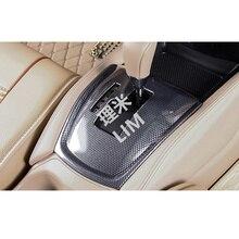 ABS Venas De Fibra De Carbono Cubierta de Pegatinas Del Panel de Control de Engranajes Adecuado para Nissan X trail X-trail Rogue T32 2014 2015 2016 accesorios