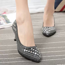 High Heels 6.5CM Nubuck Leather Pointed Toe Women Pumps Party/Wedding/Work Sexy Ladies Stiletto Shoes Office Casual Shoes689