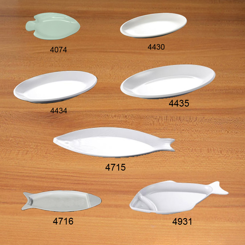 Imitation Porcelain Melamine Dinnerware Dinner Plate Fish Dish Chinese Restaurant Melamine Plate A5 Melamine Tableware in Dishes Plates from Home Garden
