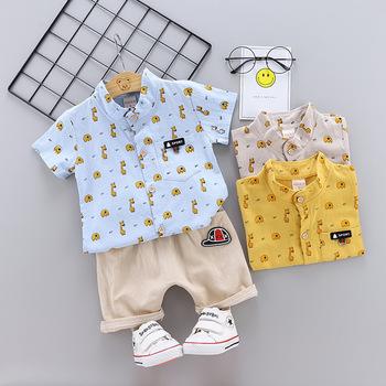 Baby Boy odzież ustawia Bebe mody T koszula + spodnie stałe zestaw lato Kid strój maluch dzieci bawełniane dres ubrania tanie i dobre opinie Zestawy REGULAR Cartoon Pasuje prawda na wymiar weź swój normalny rozmiar Pojedyncze piersi Golfem ExactlyFZ Krótki