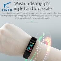 2018 new fitness bracelet blood pressure smart band waterproof ip67 remote camera sleep sports wristband UI interface pk xiomi