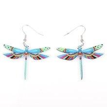Dragonfly Acrylic Long Drop Earring