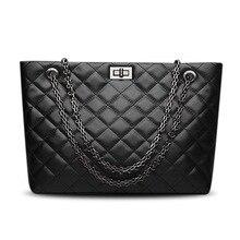 Lüks çanta kadın çanta tasarımcısı Hakiki Deri siyah La borsetta Inek Derisi Bayanlar zincir Hasp alışveriş çantası Kapasiteli Tote Bols