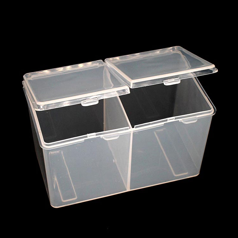 Double Grids Portable Container Storage Case Makeup Organizer Cotton & Pad Box Cosmetics Swab Q-tip Holder Wholesale