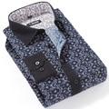 2017 Marca Nueva Flor de la Impresión Floral Camisas de Manga Larga Camisa de Los Hombres Vestido de Los Hombres Camisas Ocasionales camisa masculina