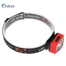 60 Degrees LED Headlamp 1*XPE +2*COB 5 mode 200 lumens Built-in rechargeable battery with USB charging cable Working Light