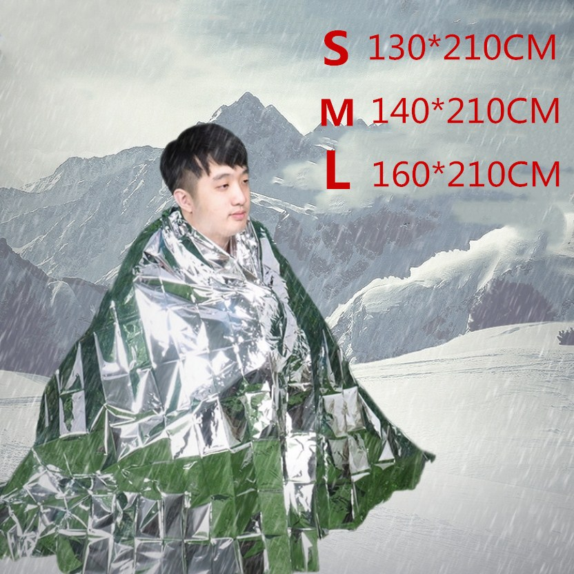 Rescue Emergent Blanket Survive Thermal First Aid Kit Treatment Camp Warm Heat Dry Keep Foil Blanket Outdoor Tool 160x210cm