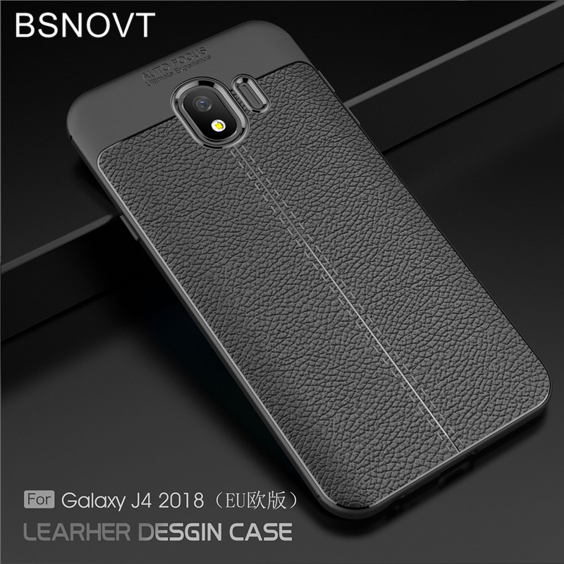 BSNOVT For Samsung Galaxy J4 2018 Case J400F Cover Soft Silicone TPU Leather Shockproof Phone Case For Samsung Galaxy J4 2018 EU