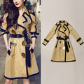 Patchwork Slim Full Special Offer Hot Sale Trench Coat Duffy 2016 Hitz And Temperament Of The Goddess In Long Sleeved