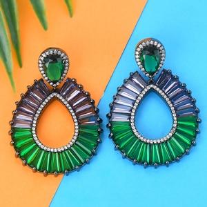 Image 5 - GODKI Luxury Water Drop Multicolor Dangle Earrings Trendy Cubic Zircon Wedding Engagement Party Brazil earrings for women 2019
