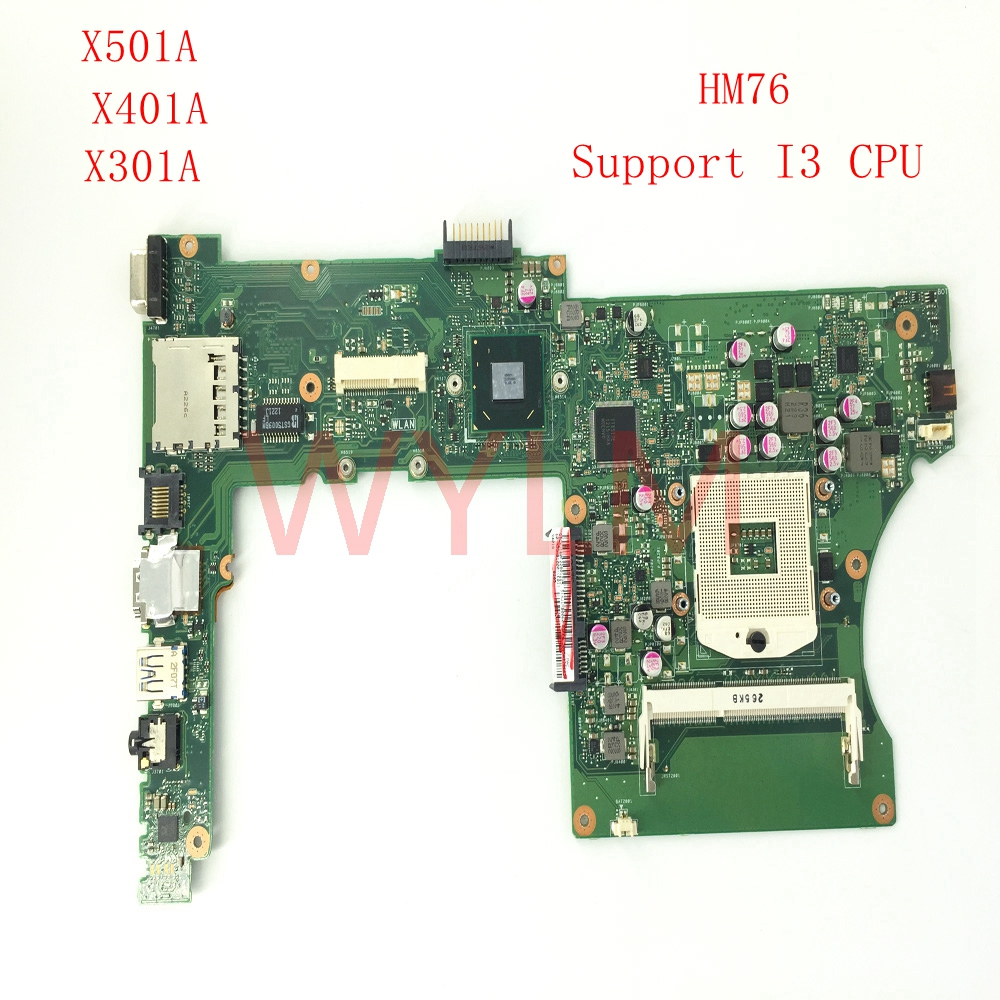 все цены на free shipping X401A SLJ8E Support I3 CPU HM76 REV 2.0 mainboard For ASUS X301A X401A X501A Laptop motherboard 60-NNOMB1102-A06 онлайн