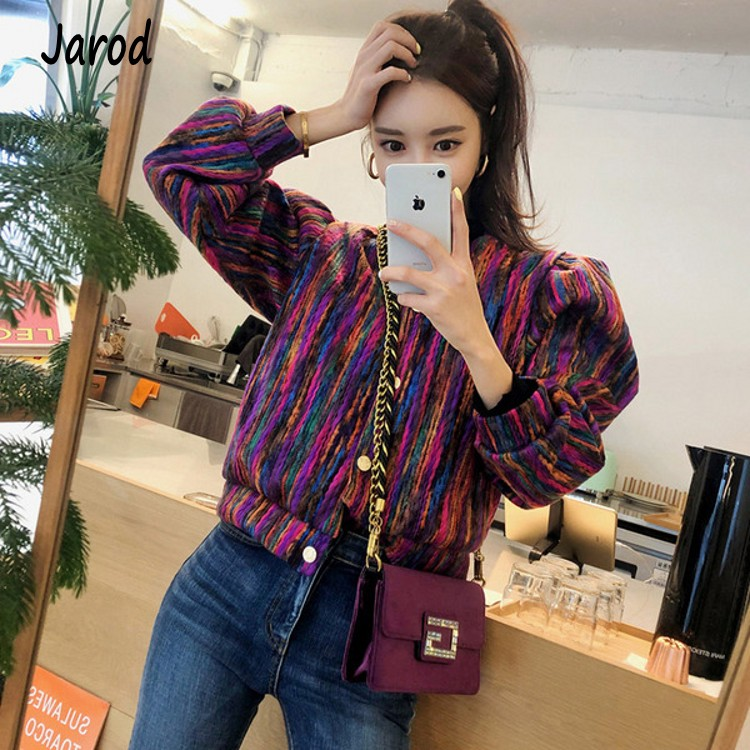 Runway Designer Chromatic Cashmere Women Jacket Coat 2019 Spring Single Breasted Long Sleeve Casual Slim Outerwear