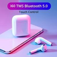 I60 TWS Pop Up 1:1 Wireless Earphones QI Wireless Charging Bluetooth 5.0 Earphone HIFI Bass Earbuds PK I30 i100 i200 i80 tws