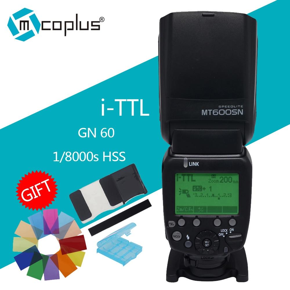 Mcoplus MT600SN GN60 1 / 8000s HSS i-TTL 마스터 및 슬레이브 플래시 스피드 라이트 Nikon D7100 D5300 D3300 D750 DSLR SB-910 MK-910 용