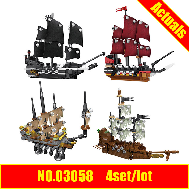 DIVERSION 03058 Lepin 4set Lot Movie Series The 4 In 1 Black Pearl Queen Anne S