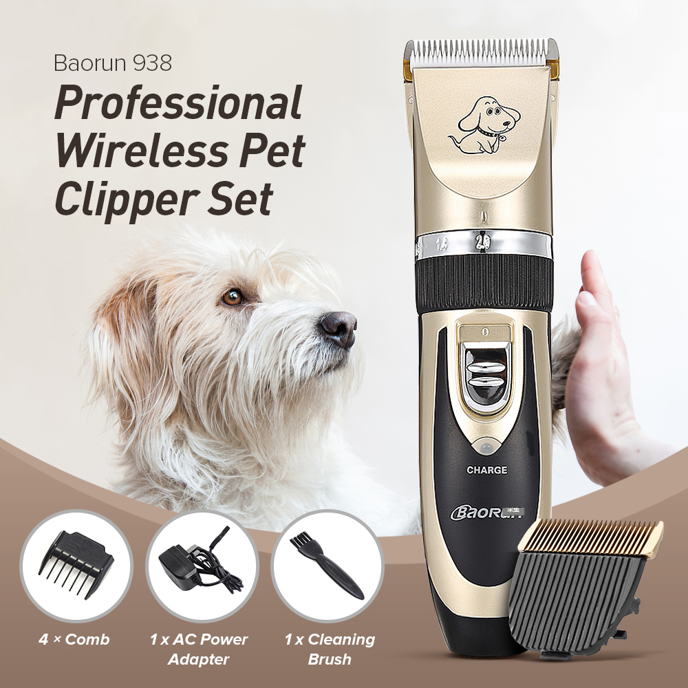 Animal Pet Dog Hair Clipper Electric Trimmer Shaver Grooming Cutter Rechargeable