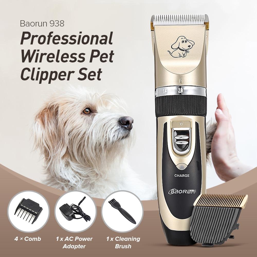 Professionelle Wiederaufladbare Haustier Hund Katze Haar Trimmer Elektrische Clippers Cutter Hund Tier Haarschnitt Maschine Pflegenwerkzeug EU STECKER