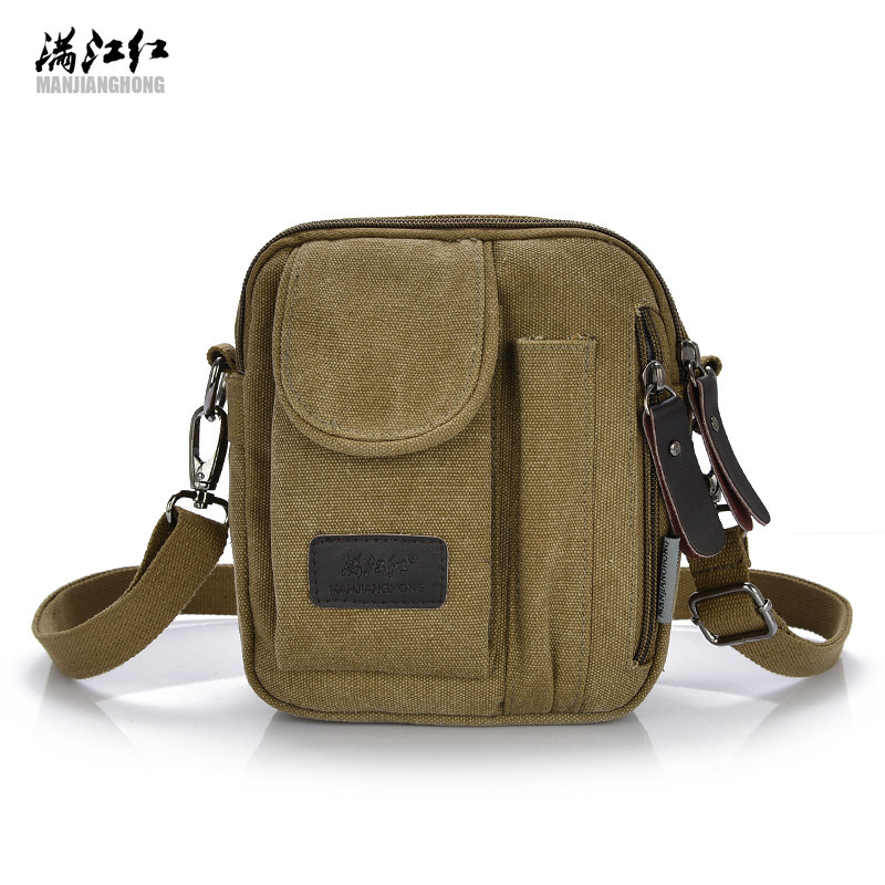 Canvas Crossbody Shoulder Bag Zipper Travel Messenger Phone Bag Multi-Color Classic Handbags