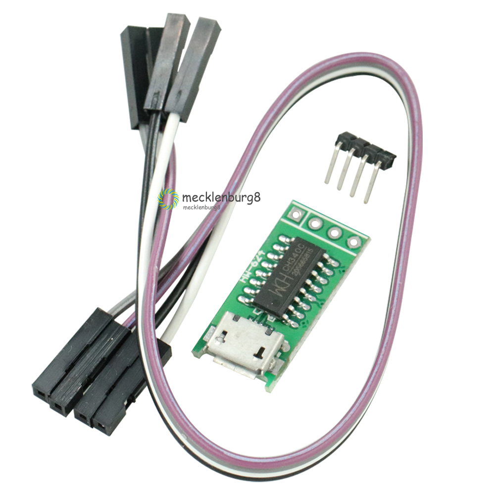 CH340C Micro USB to Serial Port TTL ISP Download Module <font><b>5</b></font> V / 3.3 V <font><b>500ma</b></font> Replace CP2102 CH340G CH340T for STM32 51 with DuPont image
