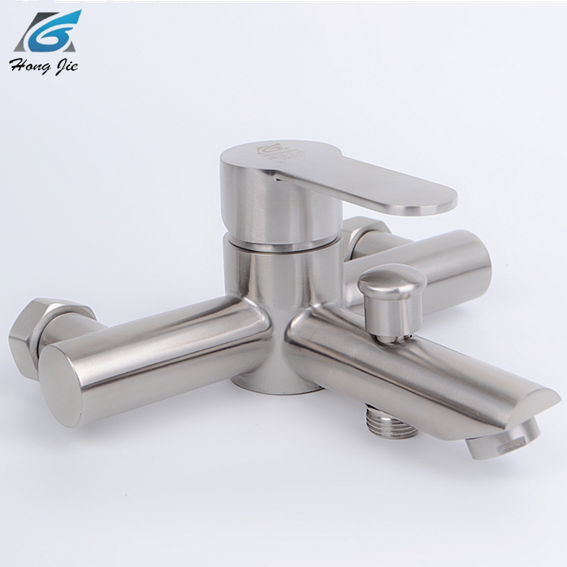 Bathtub Faucets Bathroom Shower Stainless Steel Cold And Hot Water Mixed Tap Bathroom Accessories shower faucet widened angle valve adjustable diameter hot and cold faucets accessories a pair