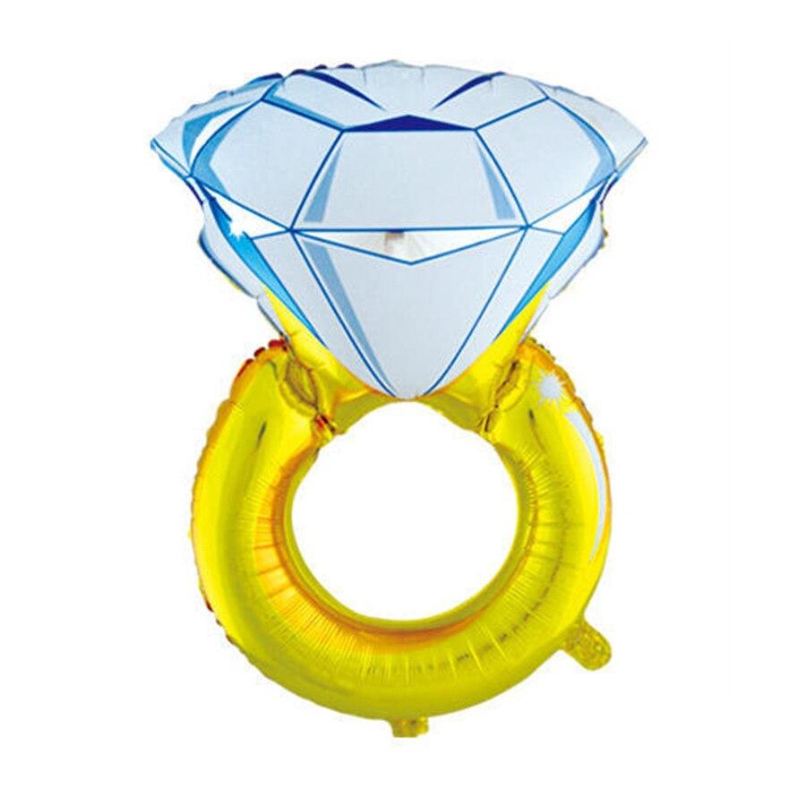 unid anillo de diamante grande globo de la hoja para la decoracin de la boda