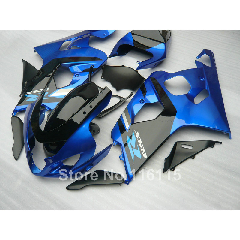 Lowest price fairing kit for SUZUKI GSXR 600/750 K4 2004 2005 blue black fairings set GSXR600 GSXR750 04 05 EG12 motorcycle fairing kit for suzuki gsxr600 k4 k5 2004 2005 black yellow gsxr 600 gsx r 750 04 05 fairings ty38