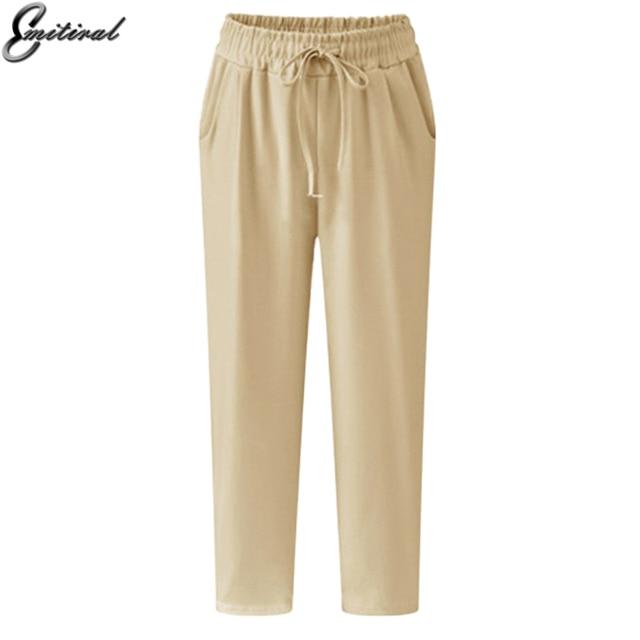 2157cbe65fc 2017 Summer Plus Size 5XL Casual Loose Stretch Women Palazzo Pants Harem  Style Elastic Female Slack Sweatpant Trousers Capris