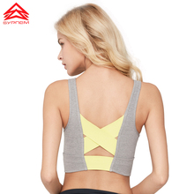 SYPREM Sports Bra Women Running Fitness sports New bra sportswear Shockproof Push Up Sexy back network cross sport bra WX181004 cross back contrast piping sports bra