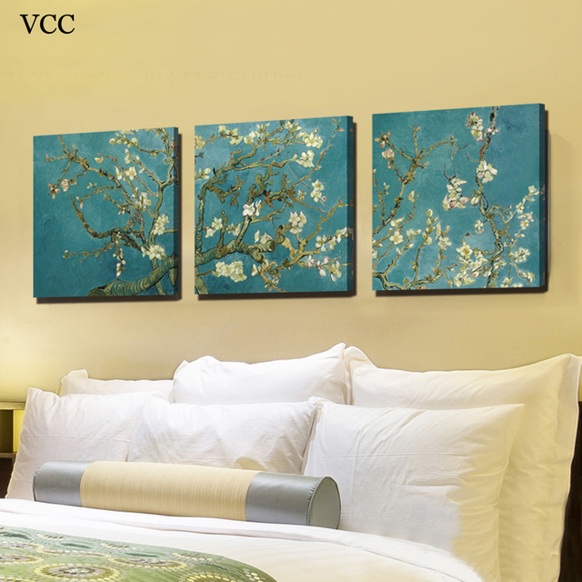 VCC Decorative Pictures,Apricot Flower Picture,Wall Art Canvas ...