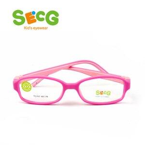 Image 5 - SECG TR90 Ultralight Soft Flexible Safety Kids Children Frame Lunettes De Vue Enfan Myopia Frame Boys Girls Unisex Rubber Band