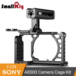 SmallRig A6500 Advanced Cage With NATO Handle + Cold Shoe Accessories Kit For Sony A6500 High Quality Aluminum Alloy Cage-2081