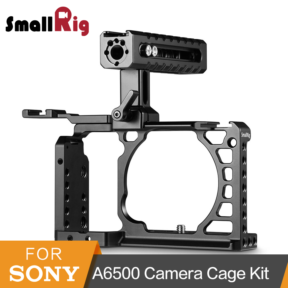 SmallRig A6500 Advanced Cage With NATO Handle + Cold Shoe Accessories Kit For Sony A6500 High Quality Aluminum Alloy Cage 2081