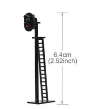 5pcs Model Railway 2 Light Block Signals Green/Red HO Scale 6cm 12V Led New JTD03 model traffic signal led lights