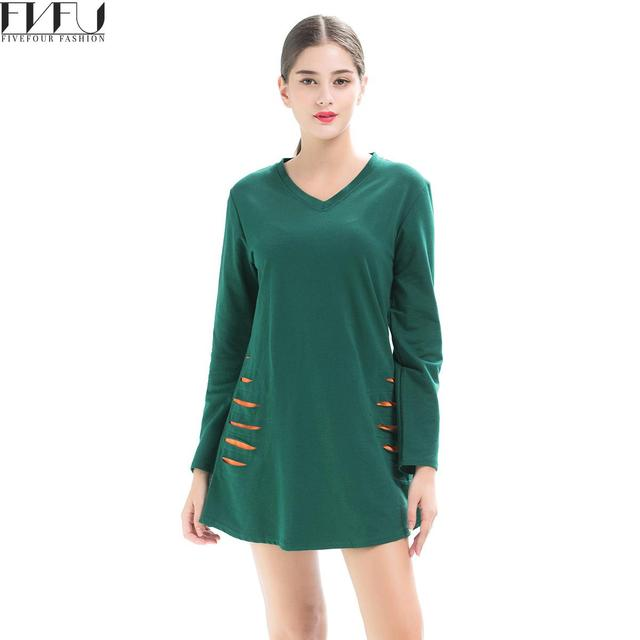 New Fashion 2018 Autumn Dress Women Long Sleeve Loose Casual Dresses Women  Solid Color Casual Oversized Shirt Dress Plus Size ccb981b7155d