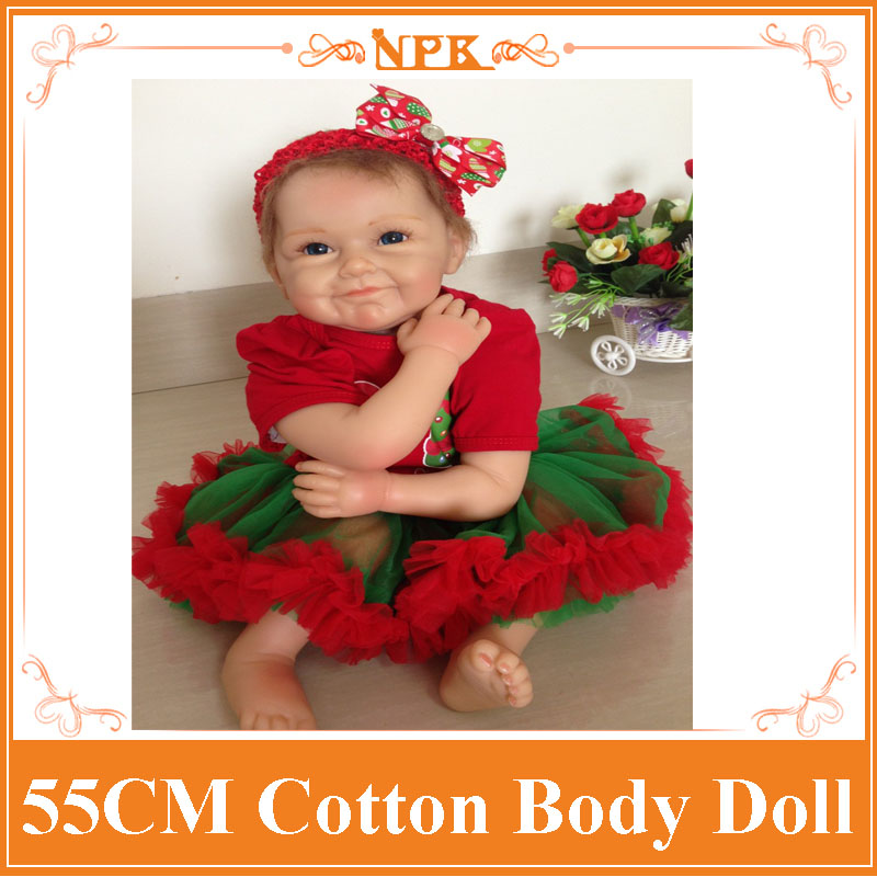 Enducational 55cm 22inch Realistic Reborn Dolls With Christmas Style 22inch Clothes Hot Sell Christmas Gift For Children As Toys