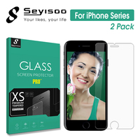 [2 Pack] Original Seyisoo 2.5D 0.3 Tempered Glass Screen Protector For iPhone 5 5S SE 6 6S 7 Plus Slim Safety 9H Toughened Film