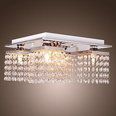 Flush Mount LED Modern Crystal Ceiling Light Lamp With 5 Lights For Living Room Lighting, Lustres De Sala Teto Luninaria Para